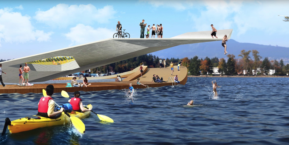 Massive outdoor swimming deck proposed for Coal Harbour