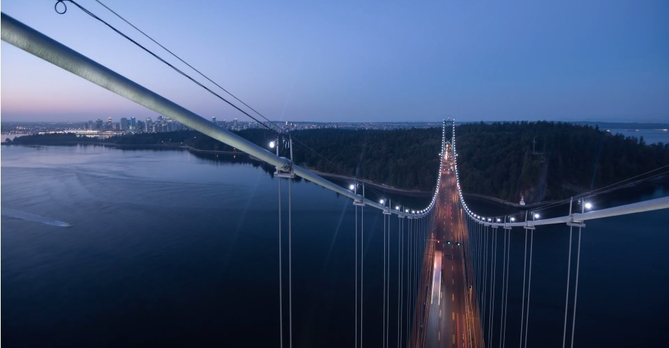 Vancouver Timelapse Video from the top of Lions Gate Bridge