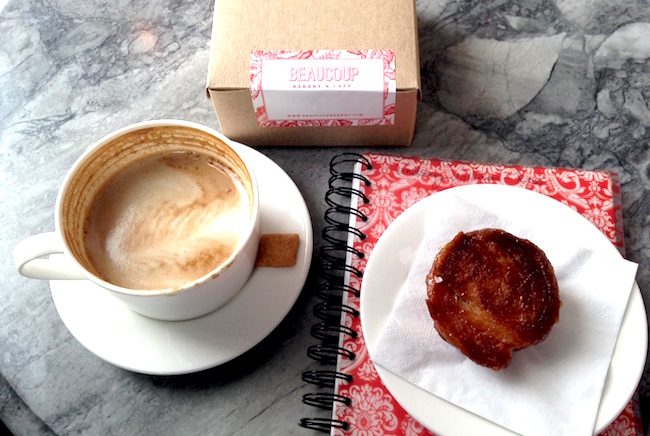 Coffee and a treat at Beaucoup Bakery (Lindsay William-Ross/Vancity Buzz)