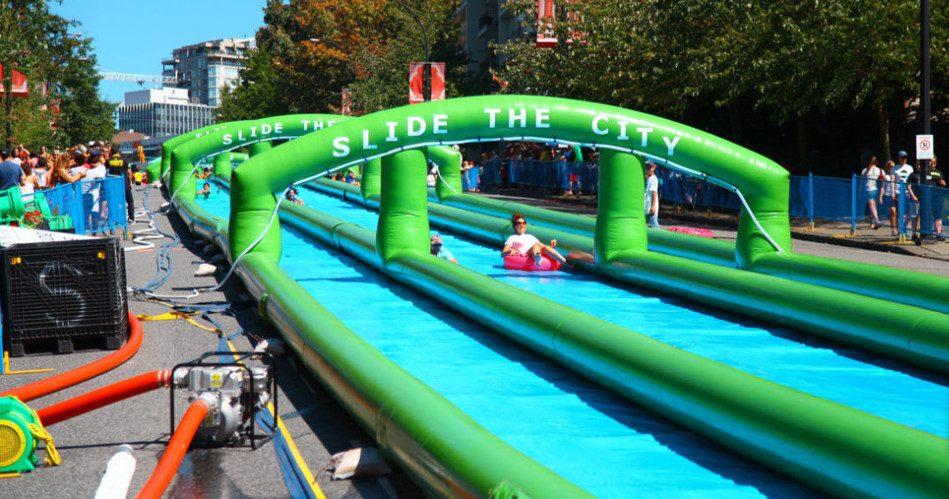 1,000-foot-long slip and slide: Slide The City returns to Calgary on July 30`