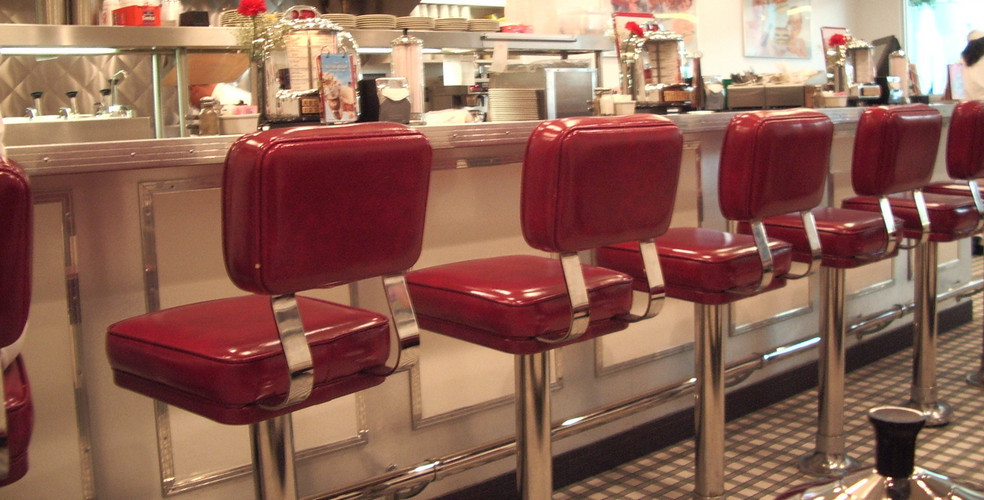 Diner stools stock