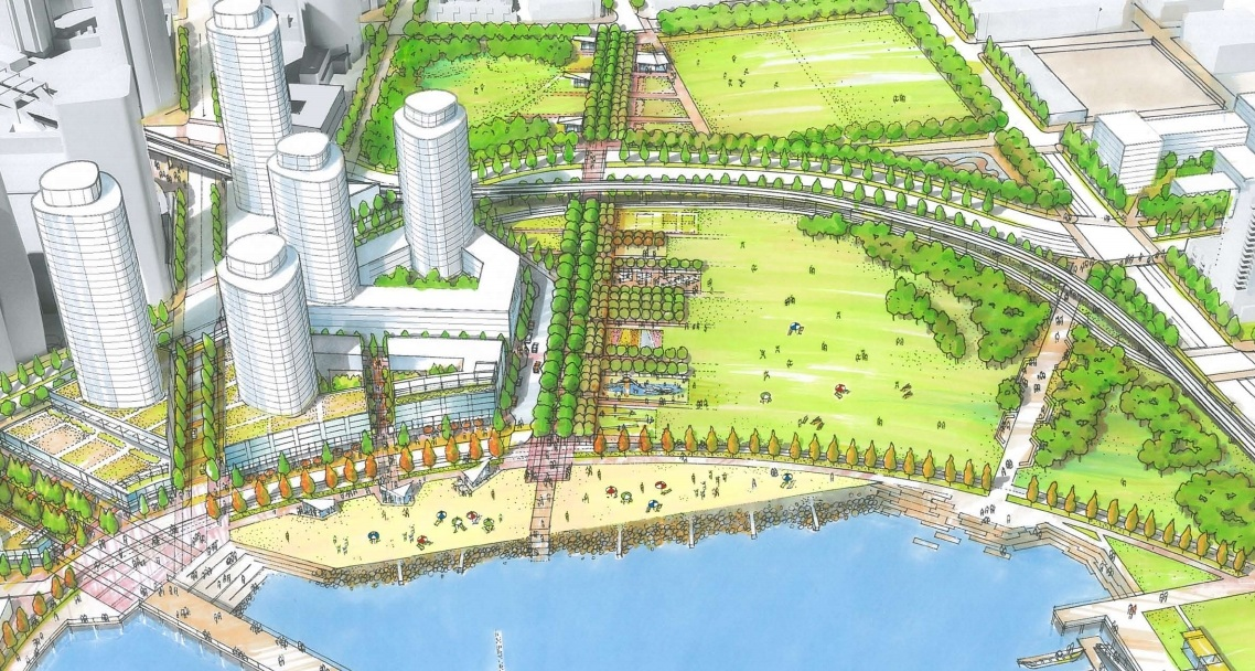 Waterfront Events District with 20 restaurants proposed for Northeast False Creek