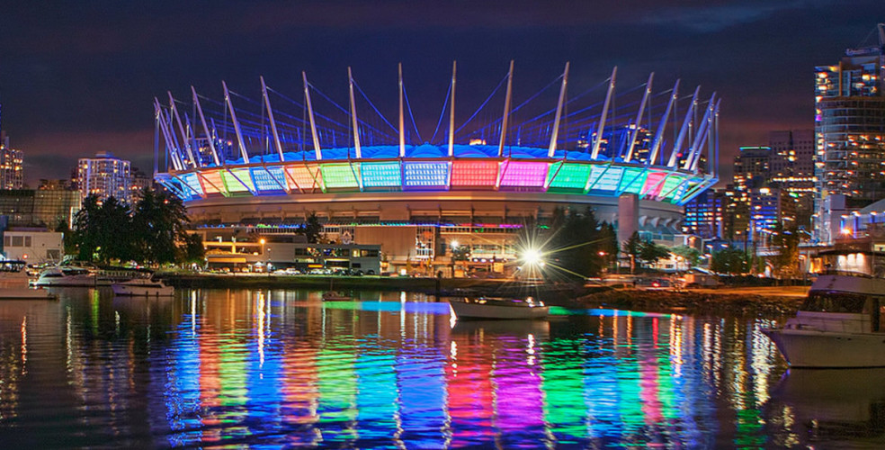 Bc place stadium northern lights false creek 984x500