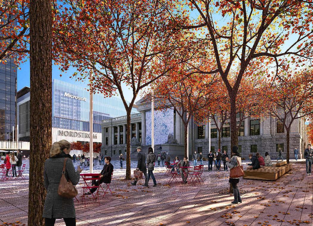 Vancouver art gallery north plaza west georgia design 6