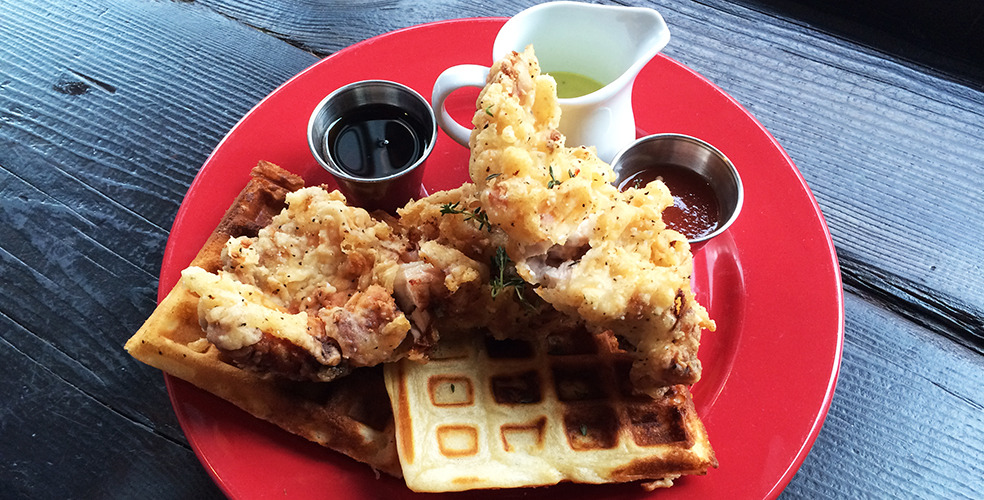 Best fried chicken & waffles in Vancouver