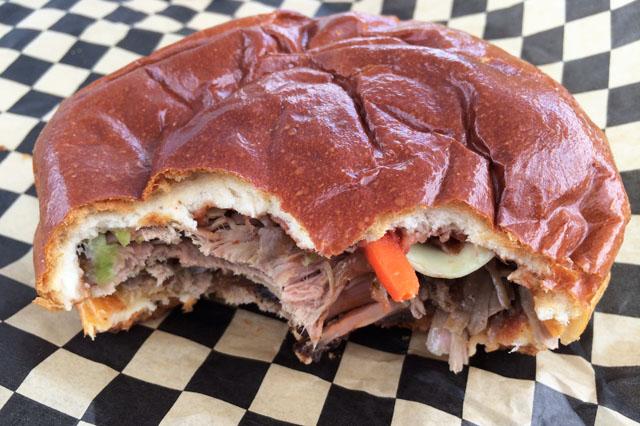 Slow smoked pulled pork sandwich (Jess Fleming / Vancity Buzz)