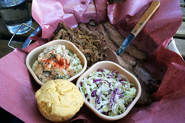 BBQ plate of goodness (Jess Fleming / Vancity Buzz)