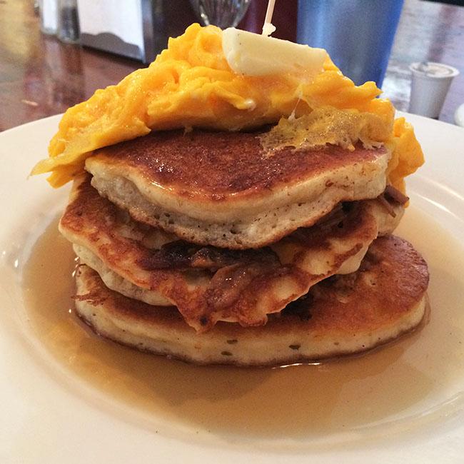 Pulled pork pancakes (Jess Fleming / Vancity Buzz)