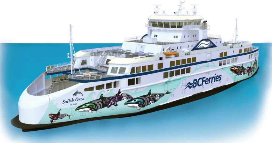 BC Ferries' newest vessels will be covered with First Nations art