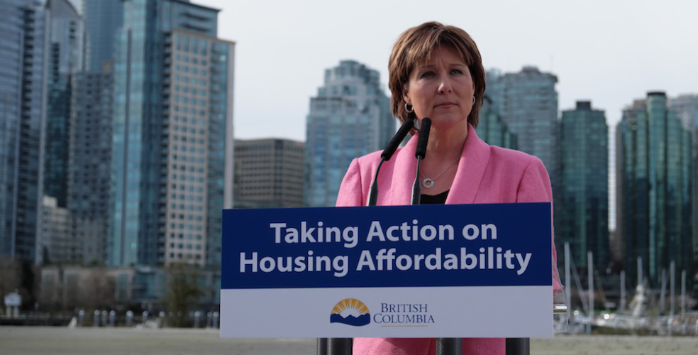 Premier Christy Clark's approval rating soars after new housing tax policy: survey