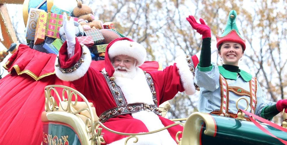Santa parade stock