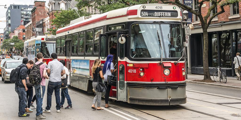 Toronto streetcar ttc stock