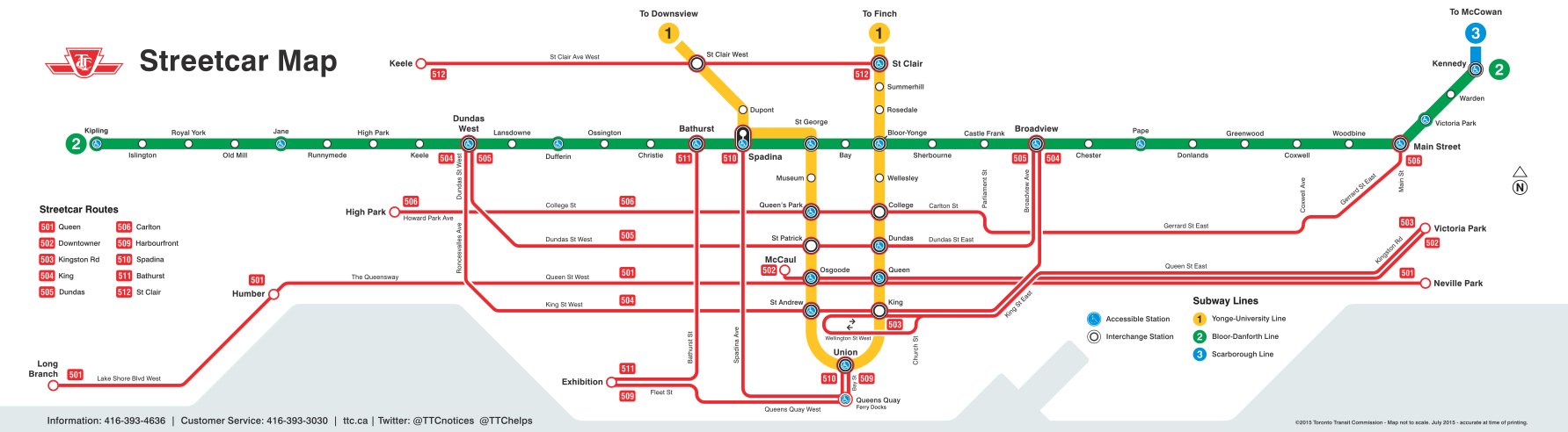 Toronto Streetcar Map Newbies guide: How to take a streetcar in Toronto | Etcetera