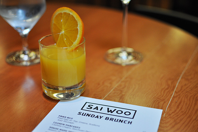 Brunch menu at Sai Woo (Jess Fleming / Vancity Buzz)