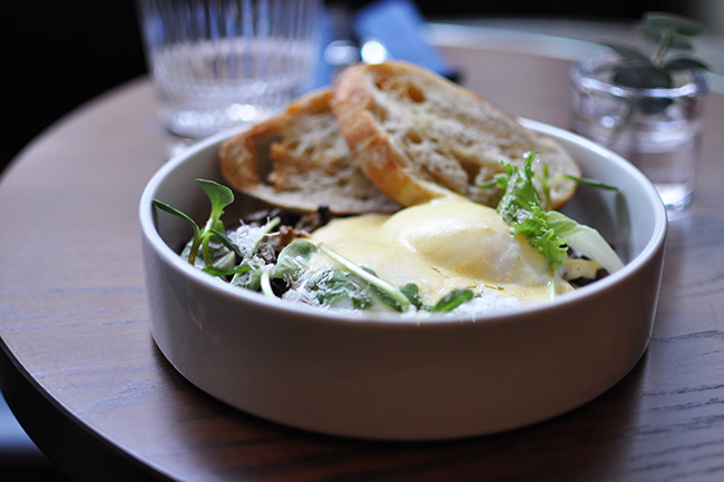 Wild Mushroom & Poached Eggs (Jess Fleming / Daily Hive)