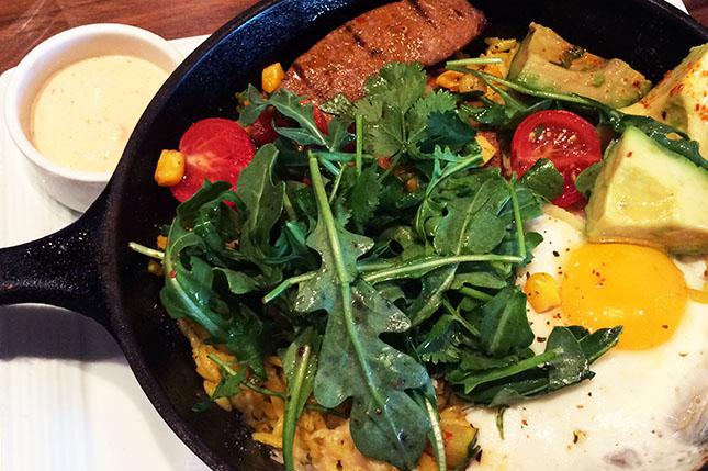 Spicy Chambar sausage paella (Jess Fleming / Daily Hive)