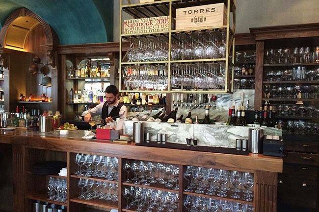 The bar at Chambar (Jess Fleming / Daily Hive)