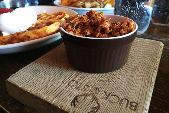 A side of pulled pork (Jess Fleming / Daily Hive)
