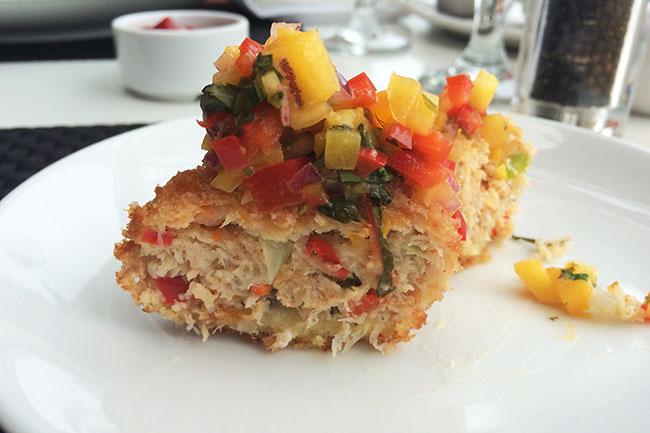 Dockside crab & shrimp cakes (Jess Fleming / Daily Hive)