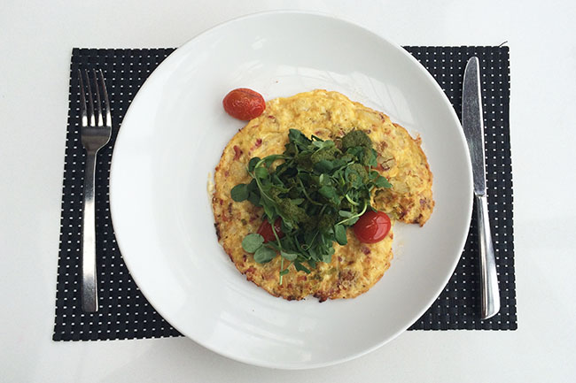 Brunch frittata (Jess Fleming / Daily Hive)
