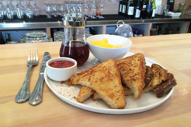 French toast & eggs (Jess Fleming / Daily Hive)