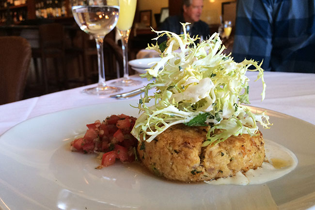 Crab cake (Jess Fleming / Daily Hive)