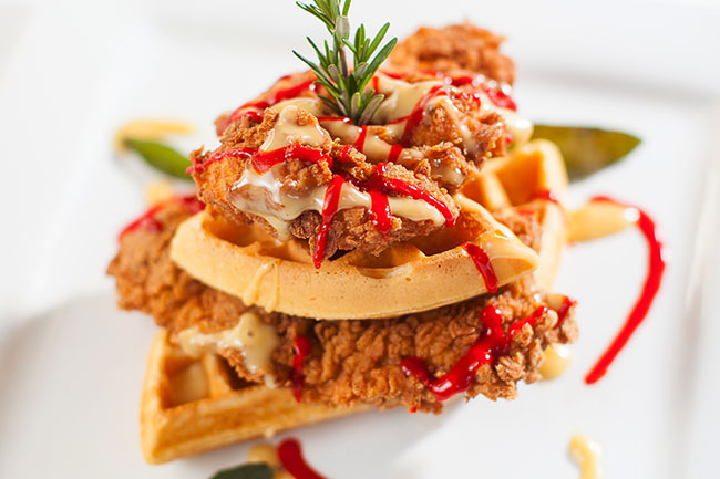 Chicken & waffles (Photo courtesy Joe Fortes)