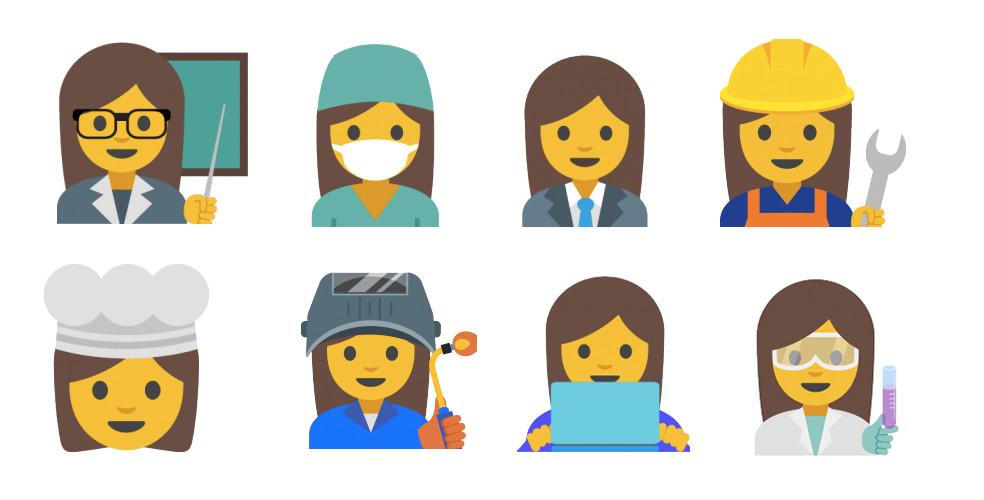 Google creates professional female emojis to reduce gender inequality