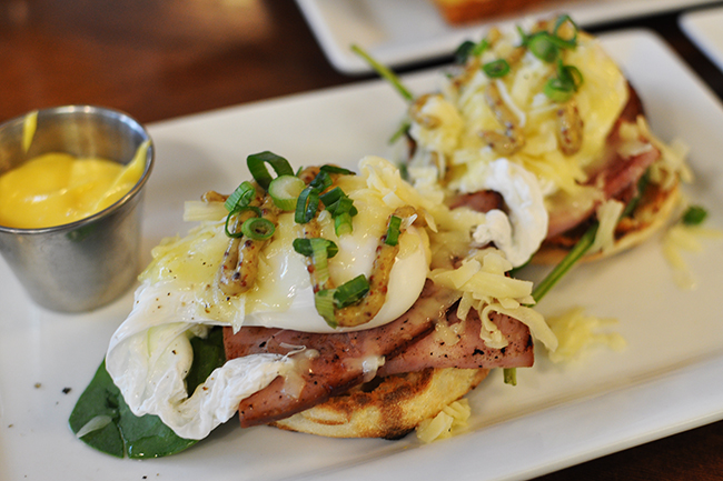Yolk's perfectly poached eggs (Jess Fleming / Daily Hive)