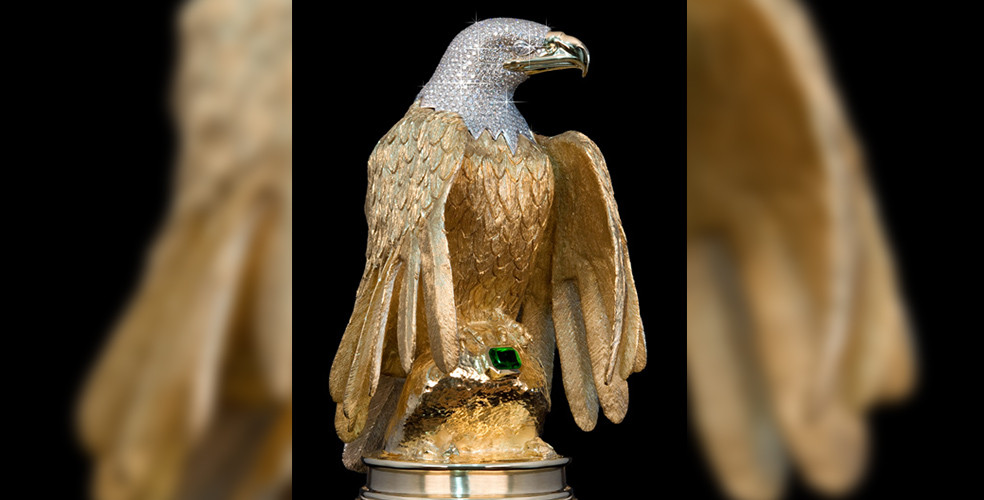 Gold and diamond eagle statue worth millions stolen from Ladner home