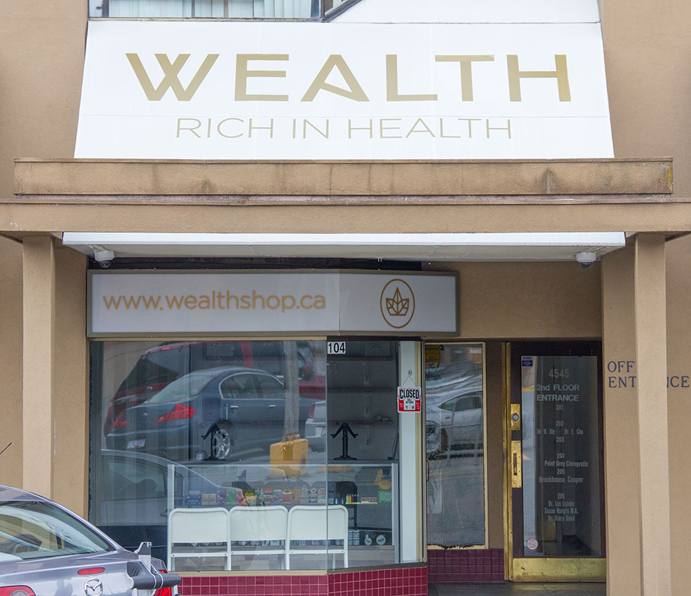 The Wealth Shop, Vancouver's first fully licensed medical marijuana dispensary (Jenni Sheppard)