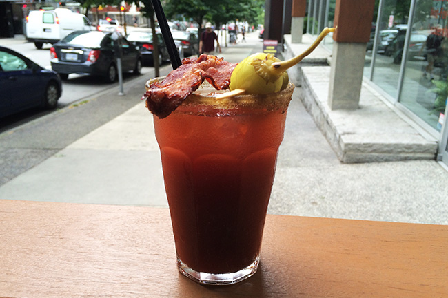 Mid-morning Caesar (Jess Fleming/Daily Hive)