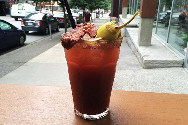 Mid-morning Caesar (Jess Fleming/Daily Hive)
