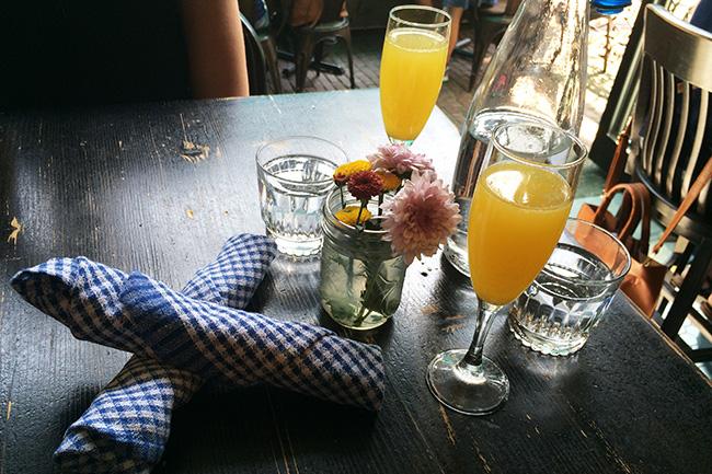 Morning mimosas at The Parlour (Jess Fleming / Vancity Buzz)