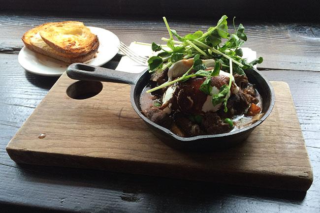 Irish stew skillet (Jess Fleming / Daily Hive)