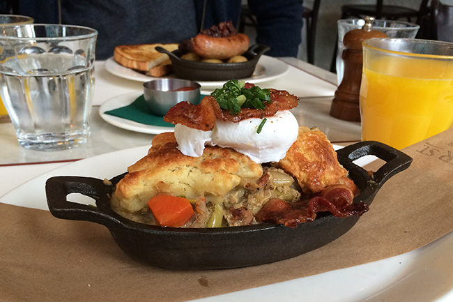 Maple chicken and bacon cobbler (Photo by Jess Fleming/Daily Hive)