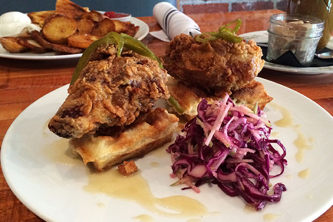 Chicken and Waffles (Jess Fleming/Daily Hive)