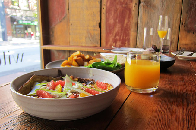 Wildebeest's brunch spread (Jess Fleming / Daily Hive)