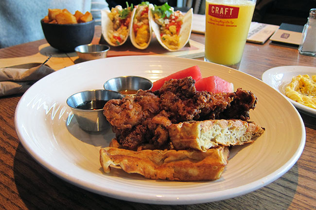 Chicken and Waffles (Jess Fleming / Daily Hive)