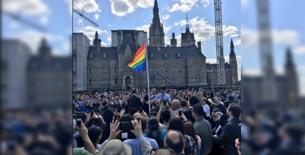 Trudeau raises Pride flag on Parliament Hill for first time in history
