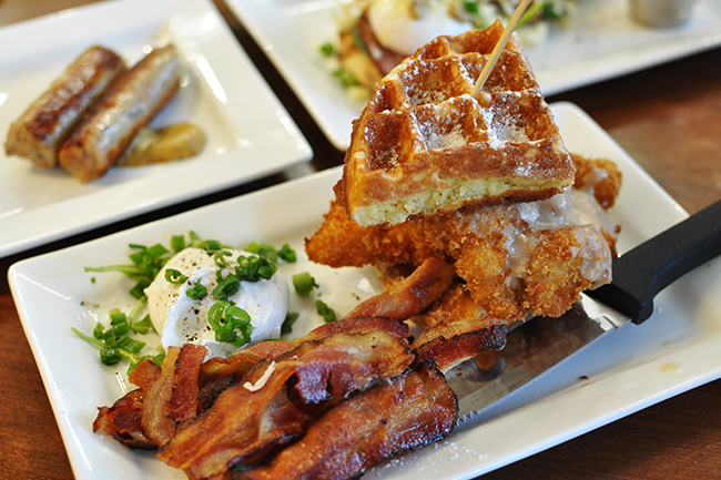 Yolk's Chicken & Waffle (Jess Fleming / Daily Hive)