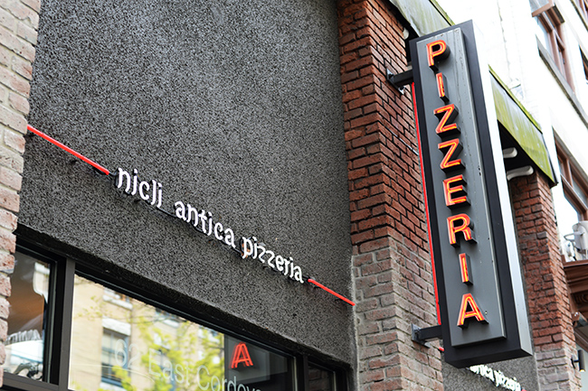 Nicli Antica Pizzeria's exterior (Jess Fleming / Daily Hive)