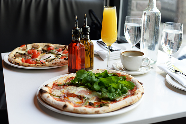 Brunch items at Nicli Antica Pizzeria (Jess Fleming / Daily Hive)