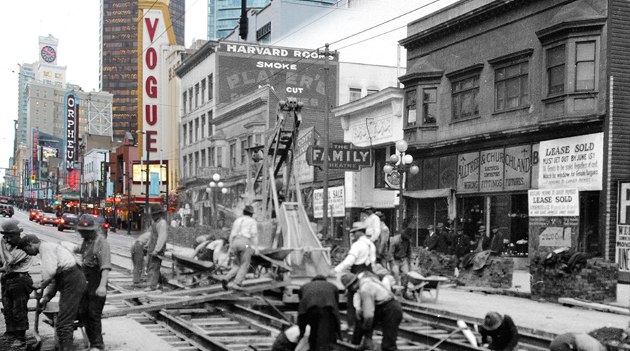 Granville street then and now