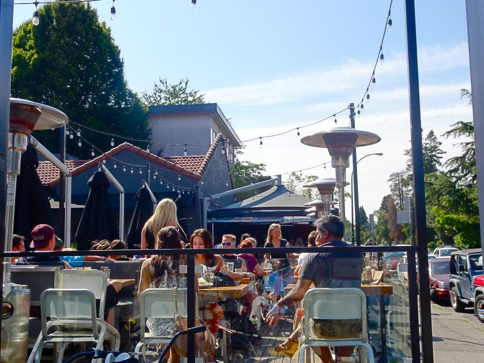 The Local's patio is hugely popular on a sunny day! (The Local)