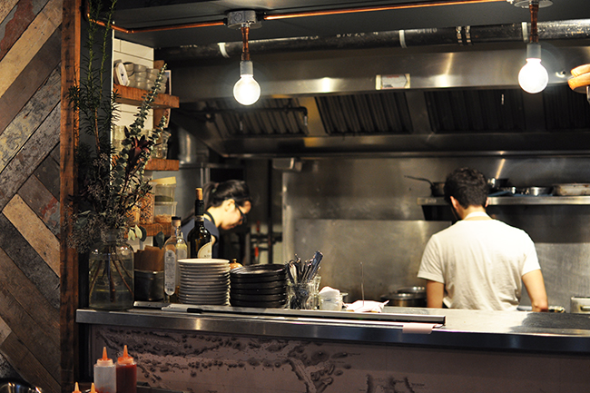 Inside the Kitchen at Supermarine (Jess Fleming / Daily Hive)