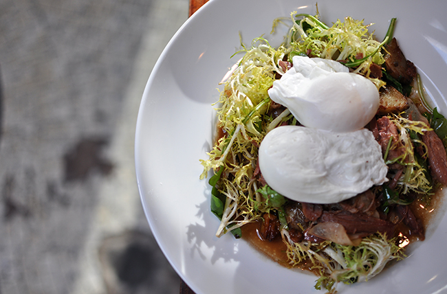 Duck Confit with Poached Eggs (Jess Fleming / Daily Hive)