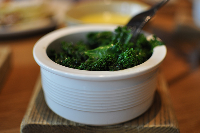 Grilled kale (Jess Fleming / Daily Hive)