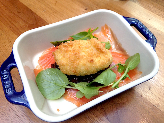 House Smoked Salmon with Crispy Egg (Lindsay William-Ross / Daily Hive)