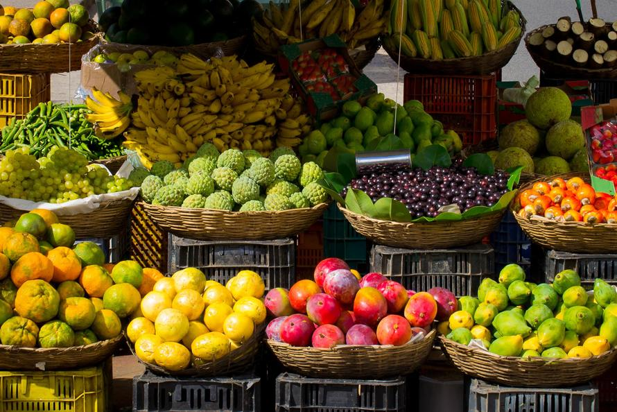 Fruits market colors large